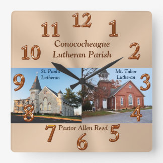 Pastors Appreciation Gifts with Photo and Text Clocks