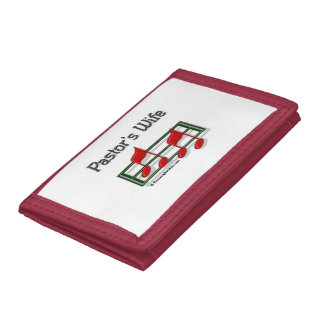 Pastors Wife Notes Tri-fold Wallet