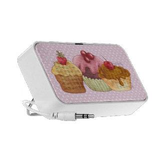 Pastries An Polkadots Doodle Laptop Speaker