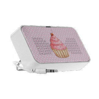 Pastries An Polkadots Doodle Laptop Speaker