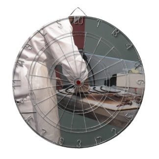 Pastry chef in the kitchen dartboard