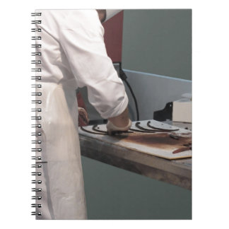 Pastry chef in the kitchen spiral notebook