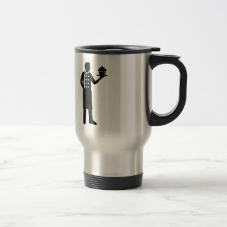 Pastry chef travel mug