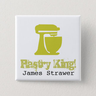 Pastry King 2 Inch Square Button