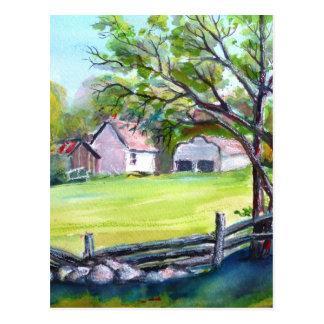 Pastural view postcard