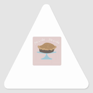 Pat-A-Cake Triangle Sticker