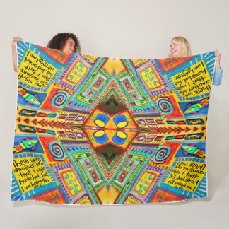 Pat Gerhard's Third St. Coffee Shop Reconstructed Fleece Blanket