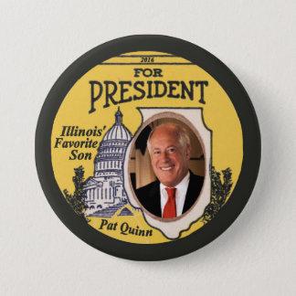 Pat Quinn Democrat for President 2016 3 Inch Round Button