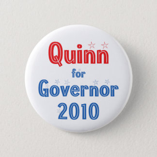 Pat Quinn for Governor 2010 Star Design 2 Inch Round Button