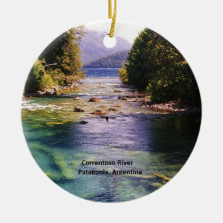 Patagonia, Argentina - Correntoso River Ceramic Ornament