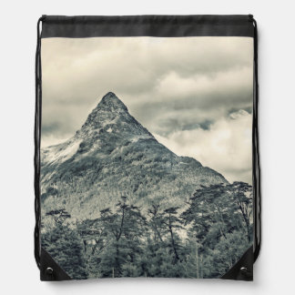 Patagonia Forest Landscape, Aysen, Chile Drawstring Bag