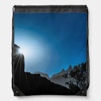 Patagonia Landscape Scene, Aysen, Chile Drawstring Bag