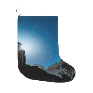 Patagonia Landscape Scene, Aysen, Chile Large Christmas Stocking