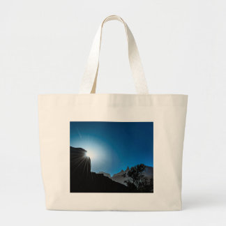 Patagonia Landscape Scene, Aysen, Chile Large Tote Bag