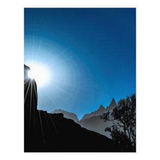 Patagonia Landscape Scene, Aysen, Chile Letterhead