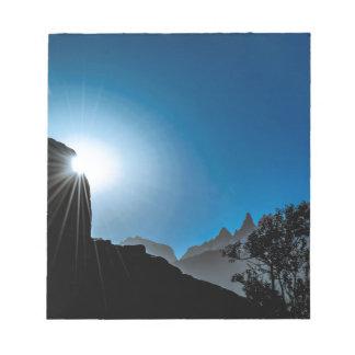 Patagonia Landscape Scene, Aysen, Chile Notepad