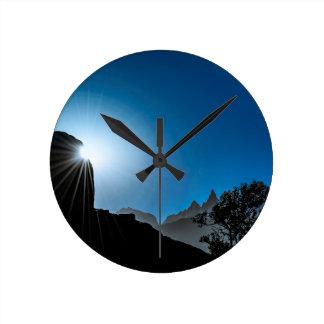 Patagonia Landscape Scene, Aysen, Chile Round Clock