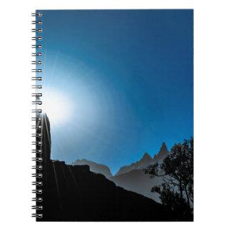 Patagonia Landscape Scene, Aysen, Chile Spiral Notebook