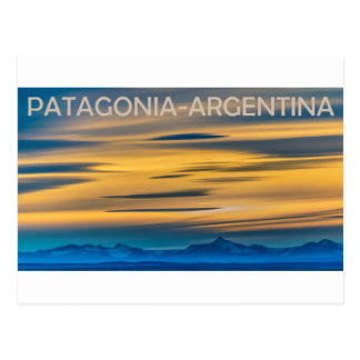 Patagonia Landscape Sunset Scene, Argentina Postcard