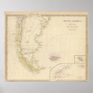 Patagonia, S Shetlands, S Orkneys Poster