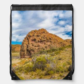 Patagonian Landscape, Argentina Drawstring Bag