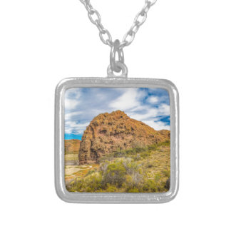 Patagonian Landscape, Argentina Silver Plated Necklace