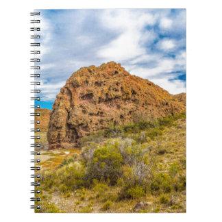 Patagonian Landscape, Argentina Spiral Note Books
