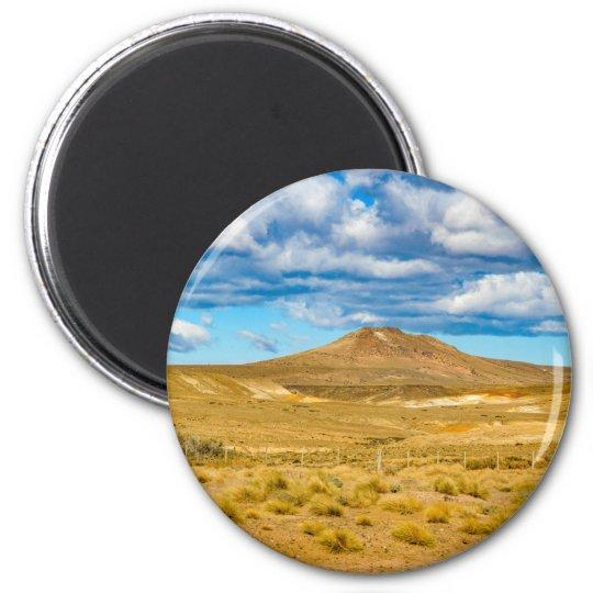 Patagonian Landscape Scene, Argentina 2 Inch Round Magnet