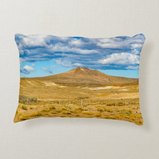 Patagonian Landscape Scene, Argentina Accent Pillow