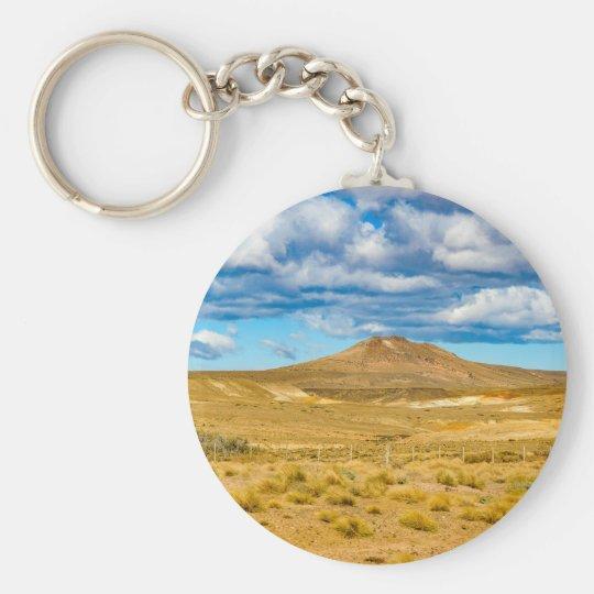 Patagonian Landscape Scene, Argentina Basic Round Button Keychain