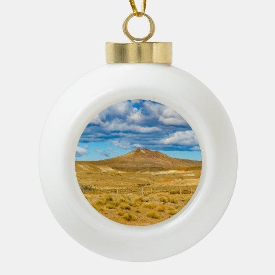 Patagonian Landscape Scene, Argentina Ceramic Ball Ornament