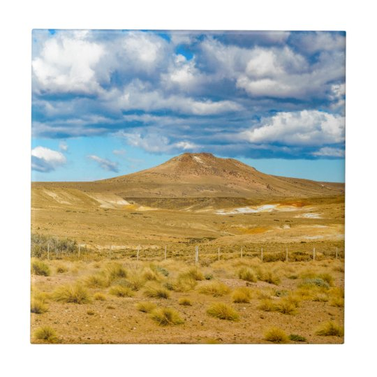 Patagonian Landscape Scene, Argentina Ceramic Tiles