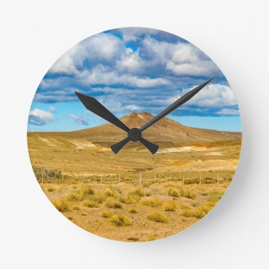 Patagonian Landscape Scene, Argentina Clock