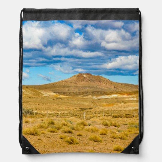 Patagonian Landscape Scene, Argentina Drawstring Bag