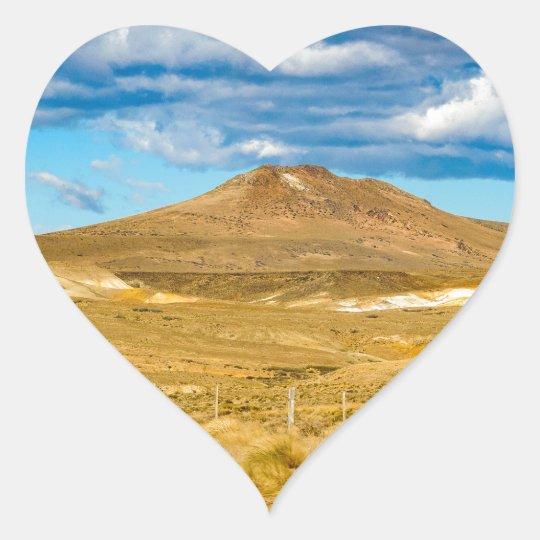 Patagonian Landscape Scene, Argentina Heart Sticker