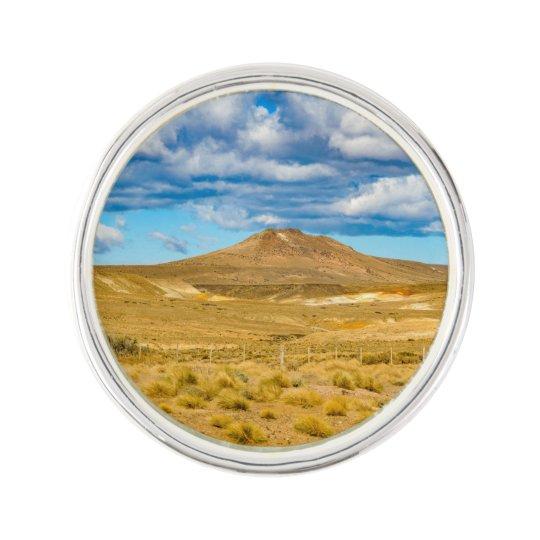 Patagonian Landscape Scene, Argentina Lapel Pin