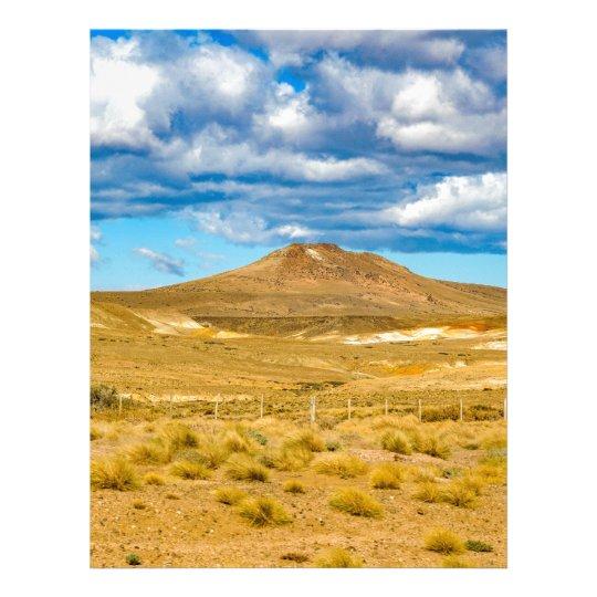 Patagonian Landscape Scene, Argentina Letterhead