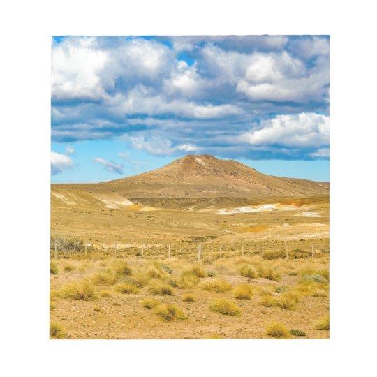 Patagonian Landscape Scene, Argentina Notepad
