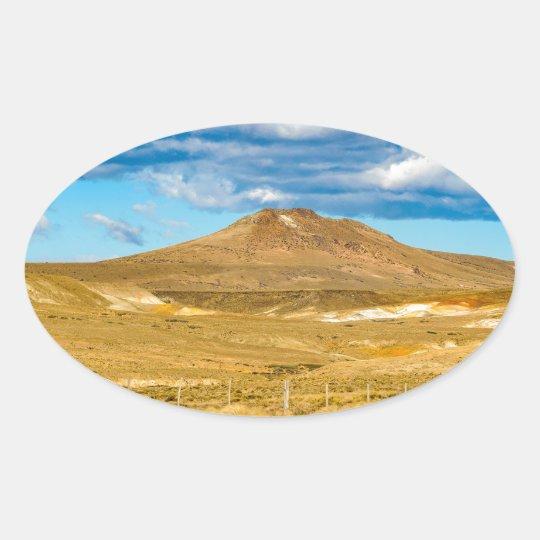 Patagonian Landscape Scene, Argentina Oval Sticker