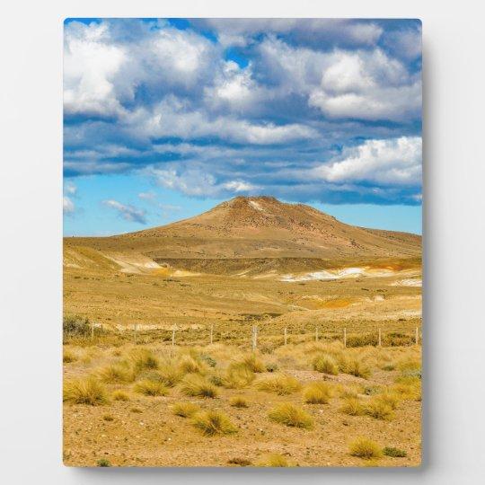 Patagonian Landscape Scene, Argentina Plaque