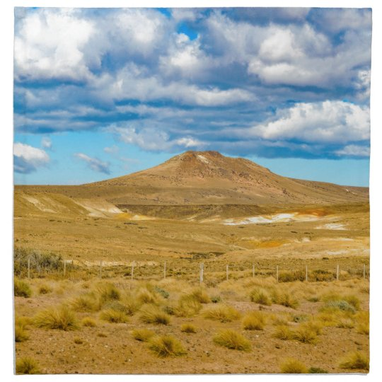 Patagonian Landscape Scene, Argentina Printed Napkin