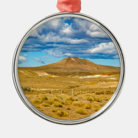 Patagonian Landscape Scene, Argentina Silver-Colored Round Ornament