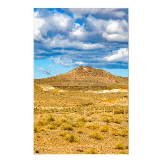 Patagonian Landscape Scene, Argentina Stationery Design