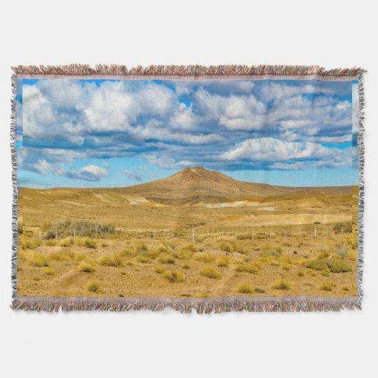 Patagonian Landscape Scene, Argentina Throw Blanket