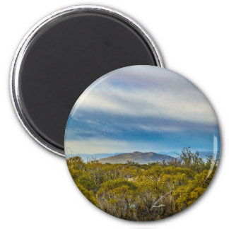 Patagonian Landscape Scene, Santa Cruz, Argentina 2 Inch Round Magnet