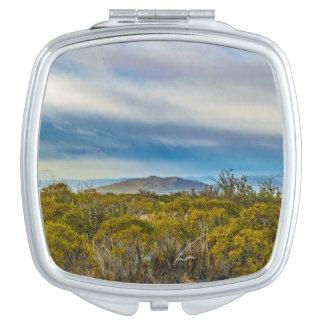 Patagonian Landscape Scene, Santa Cruz, Argentina Compact Mirror