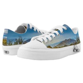 Patagonian Landscape Scene, Santa Cruz, Argentina Low-Top Sneakers