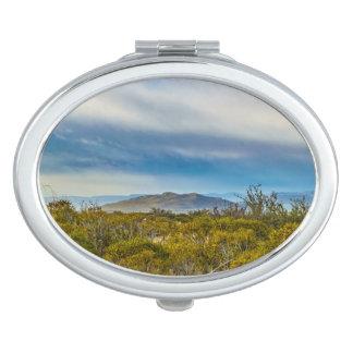 Patagonian Landscape Scene, Santa Cruz, Argentina Makeup Mirror