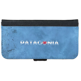 Patagonian name and flag on cool wall iPhone 6 wallet case
