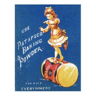 Patapsco Baking Powder vintage ad Postcard